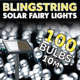 Blingstring Outdoor Solar Powered 100 LED Fairy Lights - Warm White FREE P&P